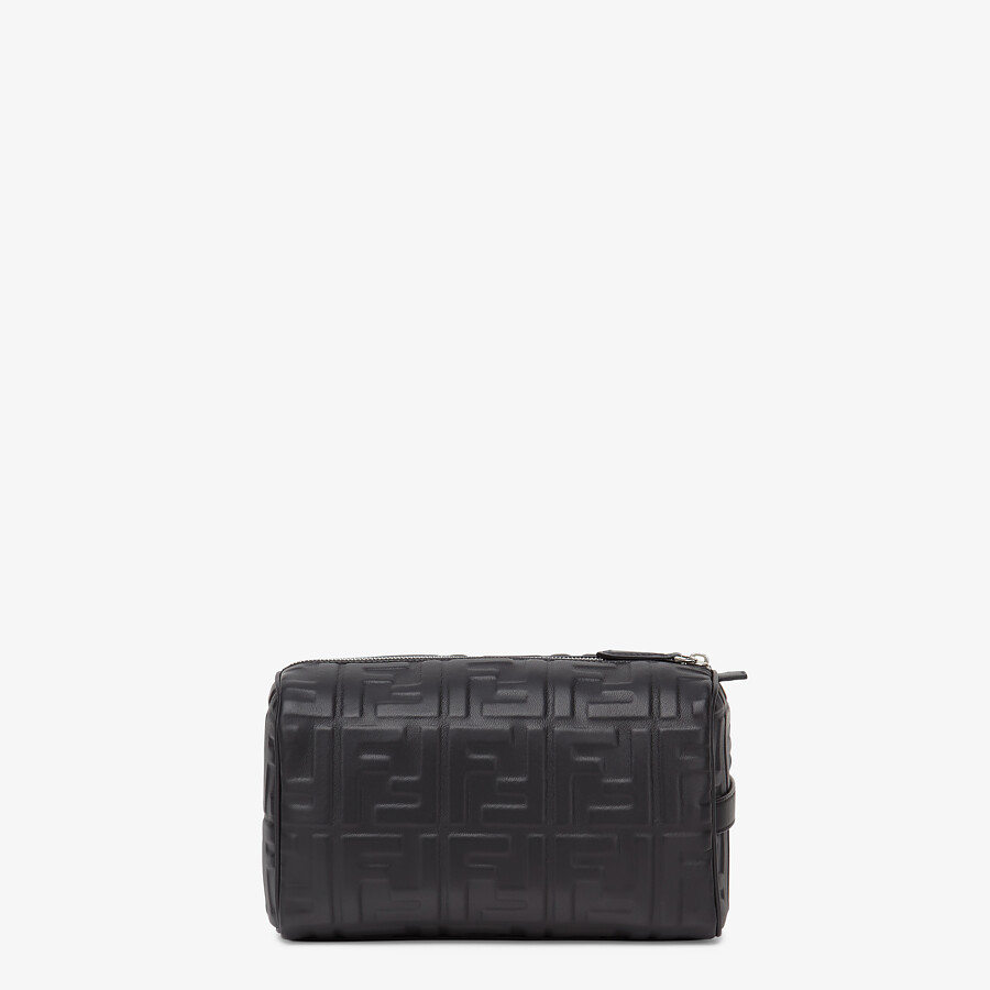 FENDI TRAVEL CASE - Black nappa leather toiletry case - view 3 detail