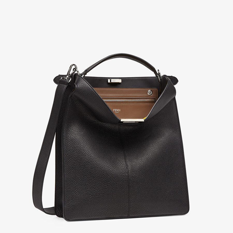 FENDI PEEKABOO ISEEU TOTE - Black leather bag - view 4 detail