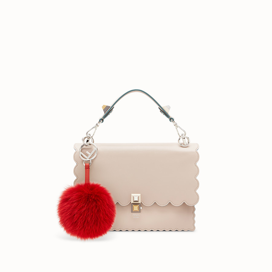 FENDI POM-POM CHARM - Red fox fur charm - view 2 detail