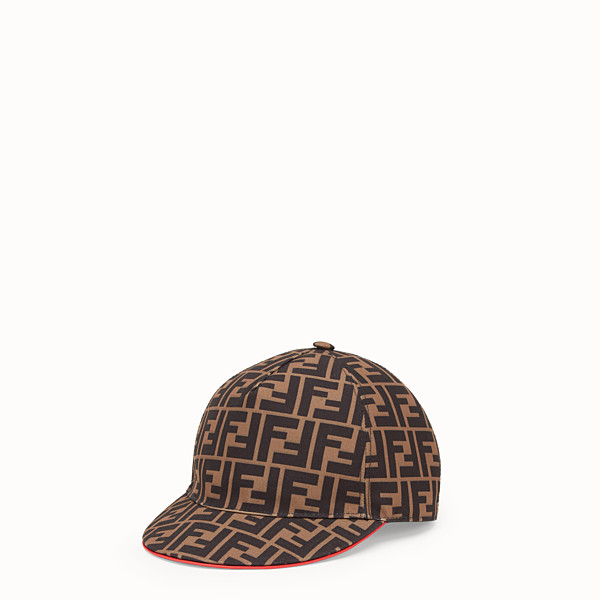 FENDI FENDIRAMA HAT - Multicolor fabric baseball cap - view 1 small thumbnail