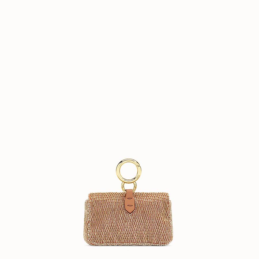 FENDI NANO BAGUETTE - Brown leather charm - view 3 detail