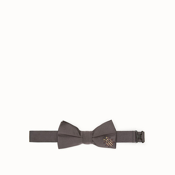 FENDI BOW TIE - Grey silk bow tie - view 1 small thumbnail