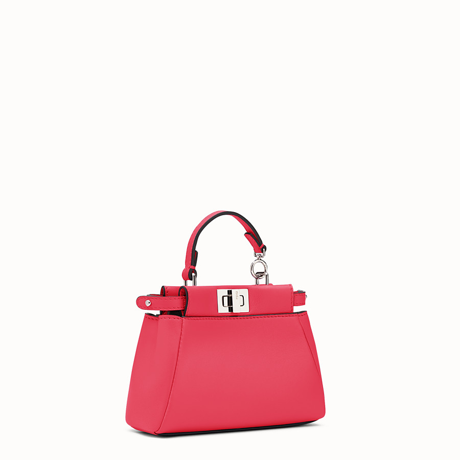 FENDI MICRO PEEKABOO - micro bag in fuchsia leather - view 2 detail