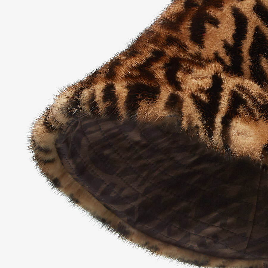 FENDI HAT - Brown mink hat - view 2 detail