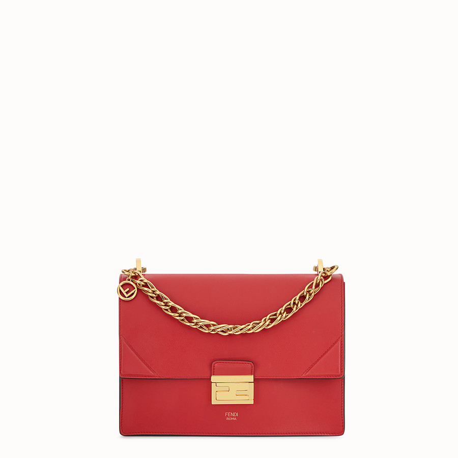 FENDI KAN U - Red leather bag - view 1 detail