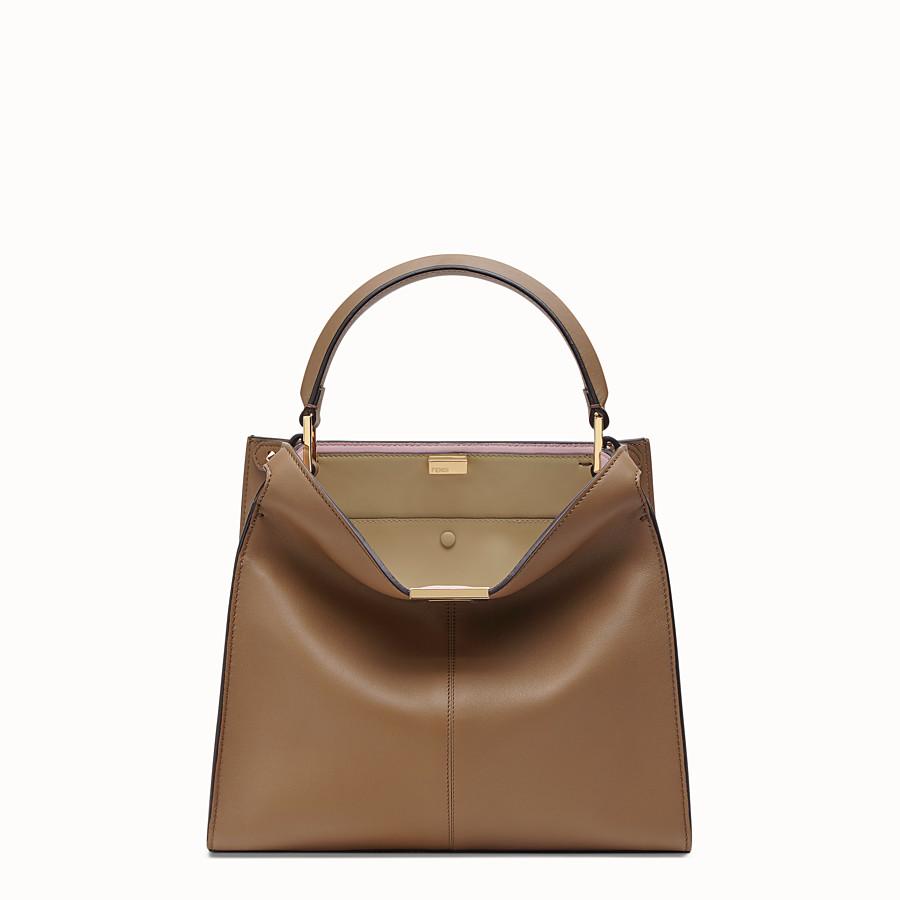 FENDI PEEKABOO X-LITE REGULAR - Gray leather bag - view 2 detail