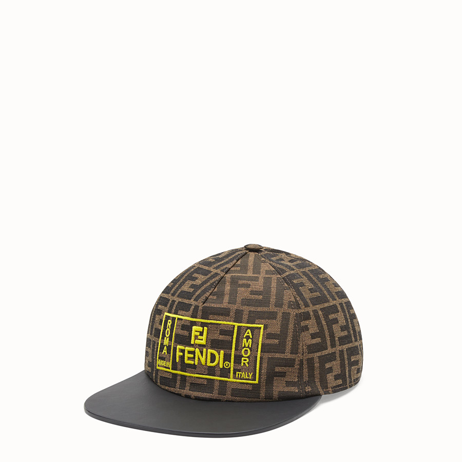 FENDI HAT - Brown fabric baseball cap - view 1 detail