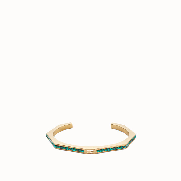 FENDI BAGUETTE BRACELET - Bangle with green crystals - view 1 small thumbnail