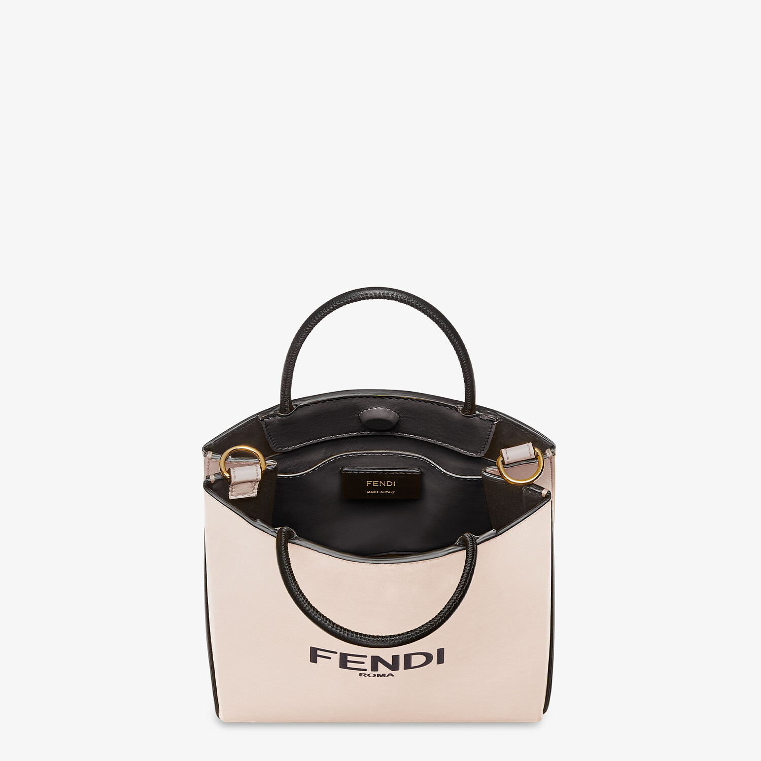 FENDI FENDI PACK SMALL SHOPPING BAG - Pink leather bag - view 5 detail