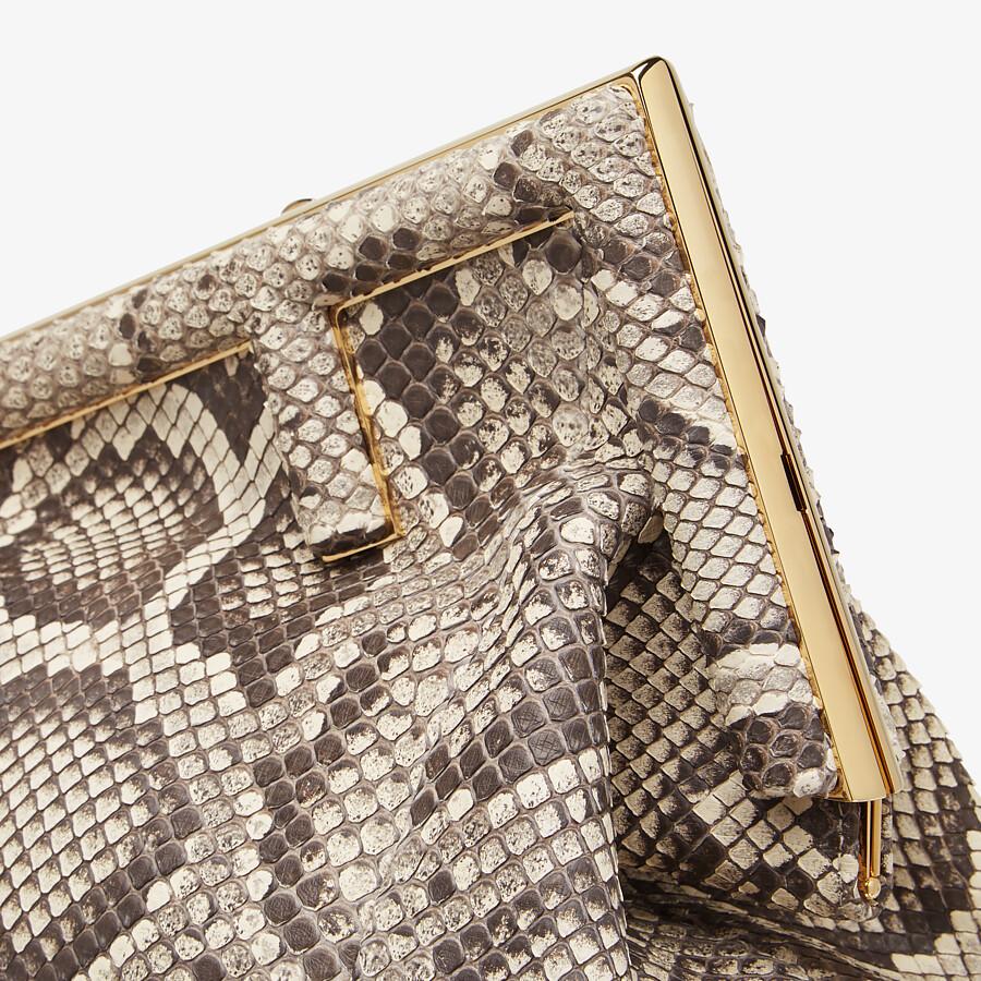 FENDI FENDI FIRST MEDIUM - White python leather bag - view 5 detail