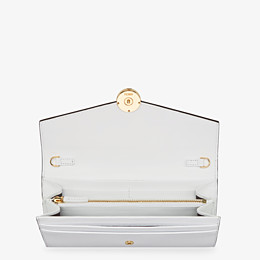 FENDI CONTINENTAL WITH CHAIN - White leather wallet - view 4 thumbnail
