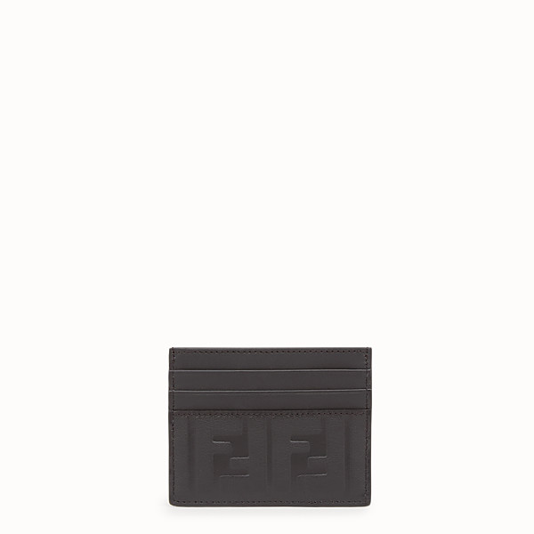 FENDI CARD HOLDER - Black leather cardholder - view 1 small thumbnail