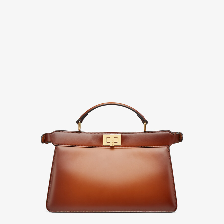 FENDI PEEKABOO ISEEU EAST-WEST - Brown leather bag - view 4 detail