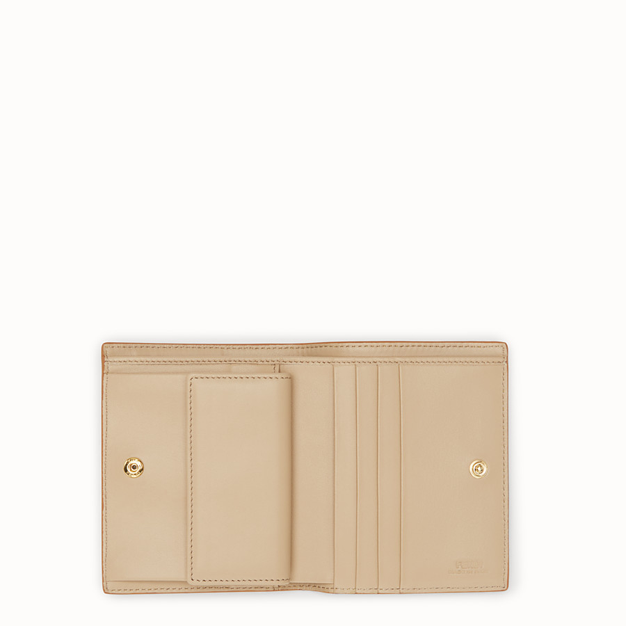 FENDI BIFOLD - Yellow compact leather wallet - view 4 detail