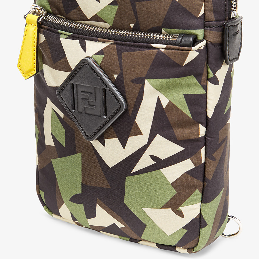 FENDI BACKPACK - Green nylon one-shoulder backpack - view 5 detail