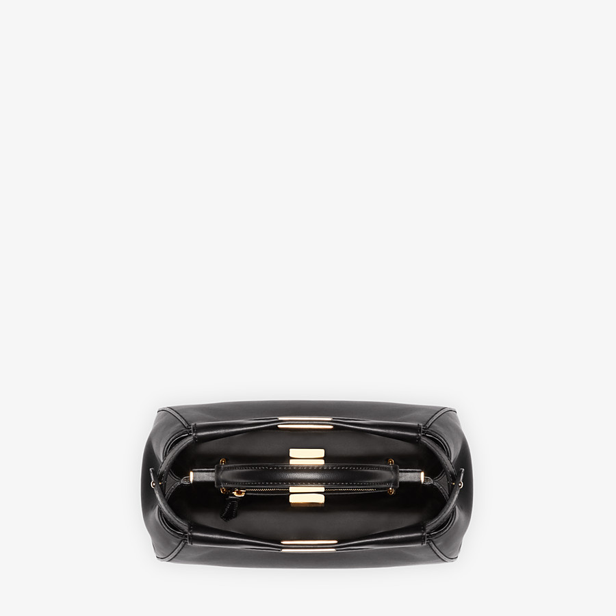 FENDI PEEKABOO ICONIC MINI - Black nappa leather bag - view 5 detail