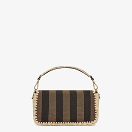 FENDI BAGUETTE - Brown fabric bag - view 4 thumbnail