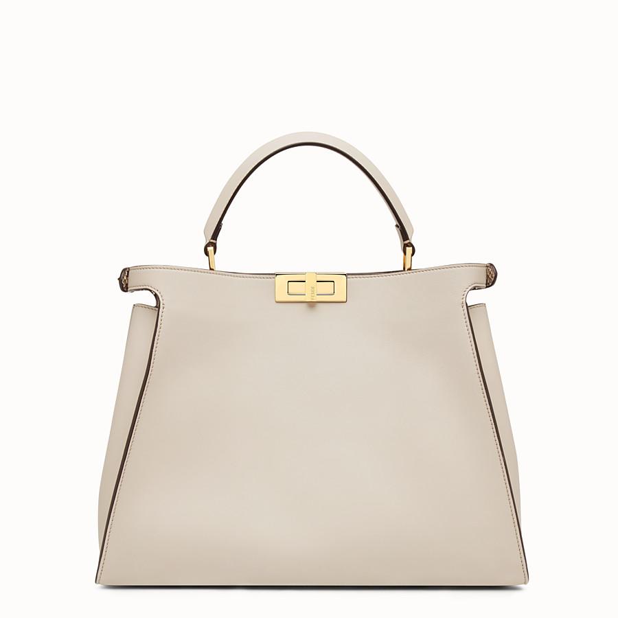 FENDI PEEKABOO ESSENTIAL - Powder-grey leather handbag - view 3 detail