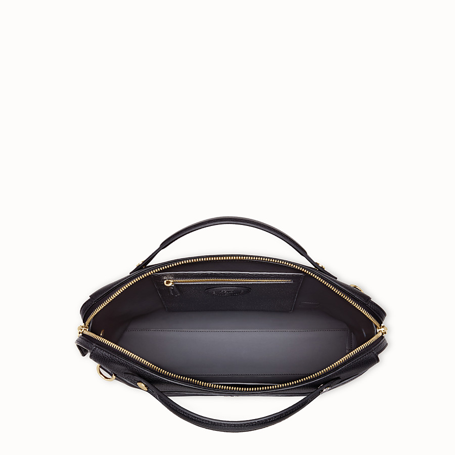 FENDI BY THE WAY - Black leather bag - view 4 detail