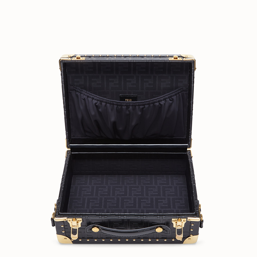 FENDI SMALL TRAVEL BAG - Black leather suitcase - view 4 detail