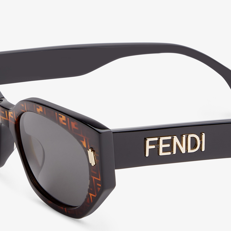 FENDI FENDI BOLD - FF Havana and black acetate sunglasses - view 3 detail