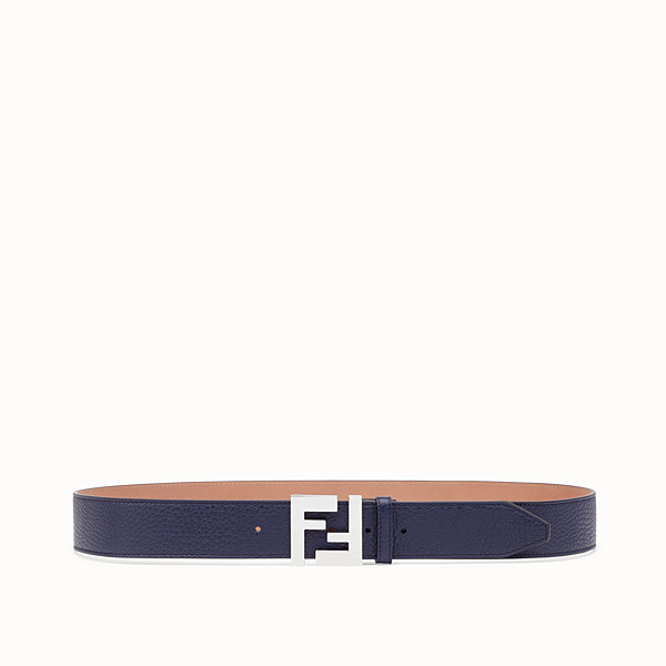 FENDI BELT - Blue Romano leather belt - view 1 small thumbnail