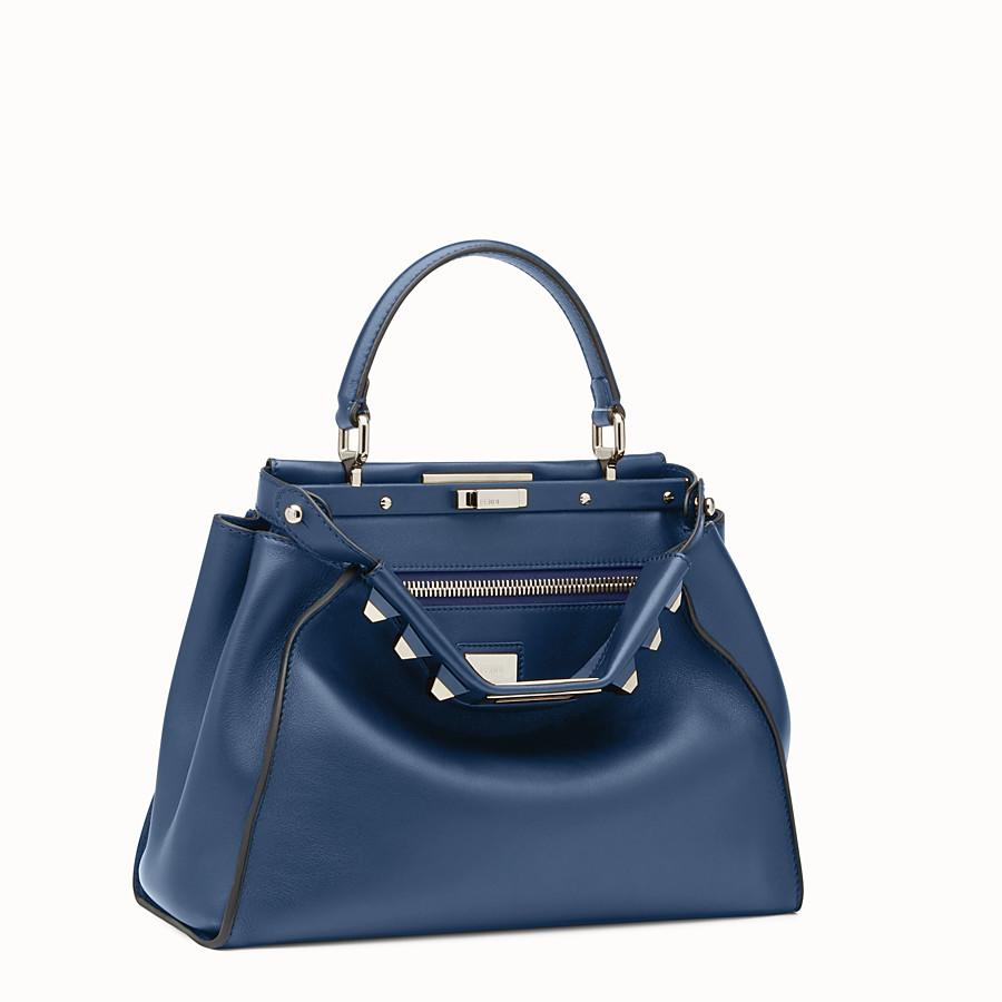 FENDI 레귤러 피카부 - 미드나잇 블루 컬러의 가죽 백 - view 2 detail