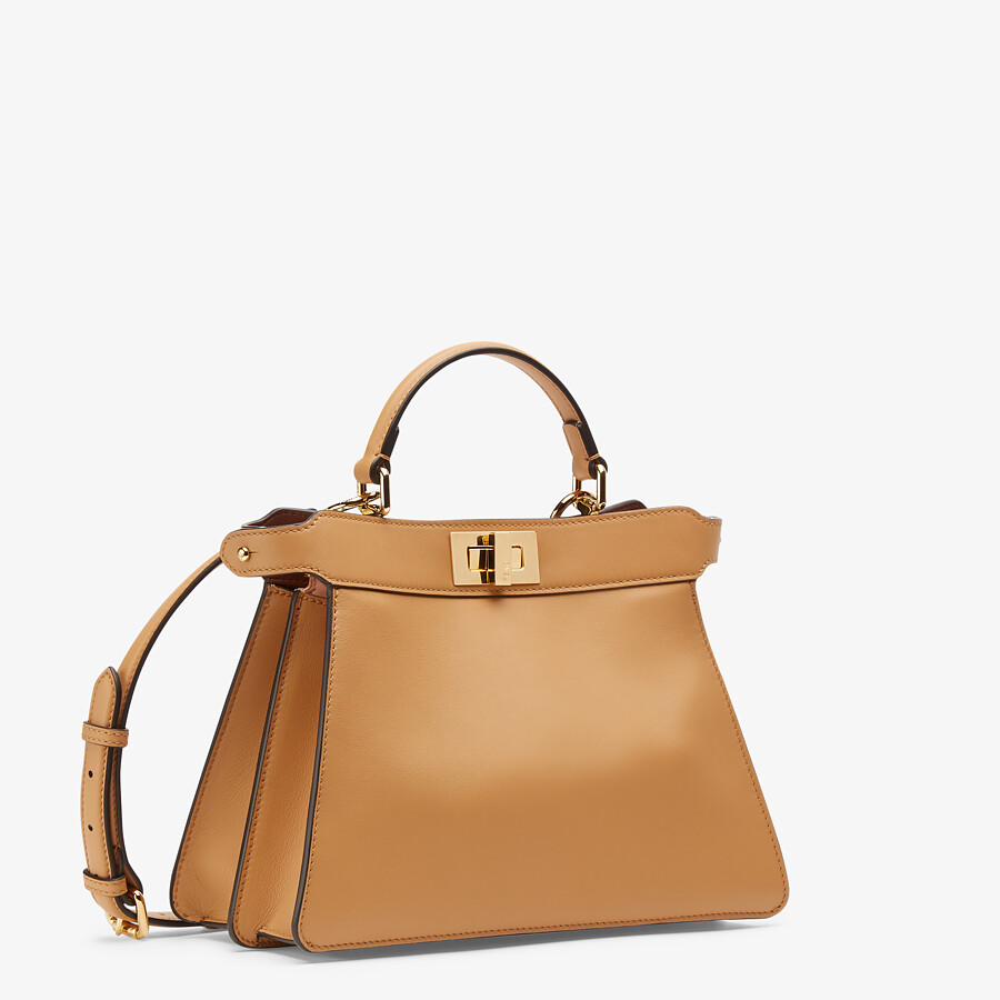 FENDI PEEKABOO ISEEU SMALL - Beige leather bag - view 3 detail
