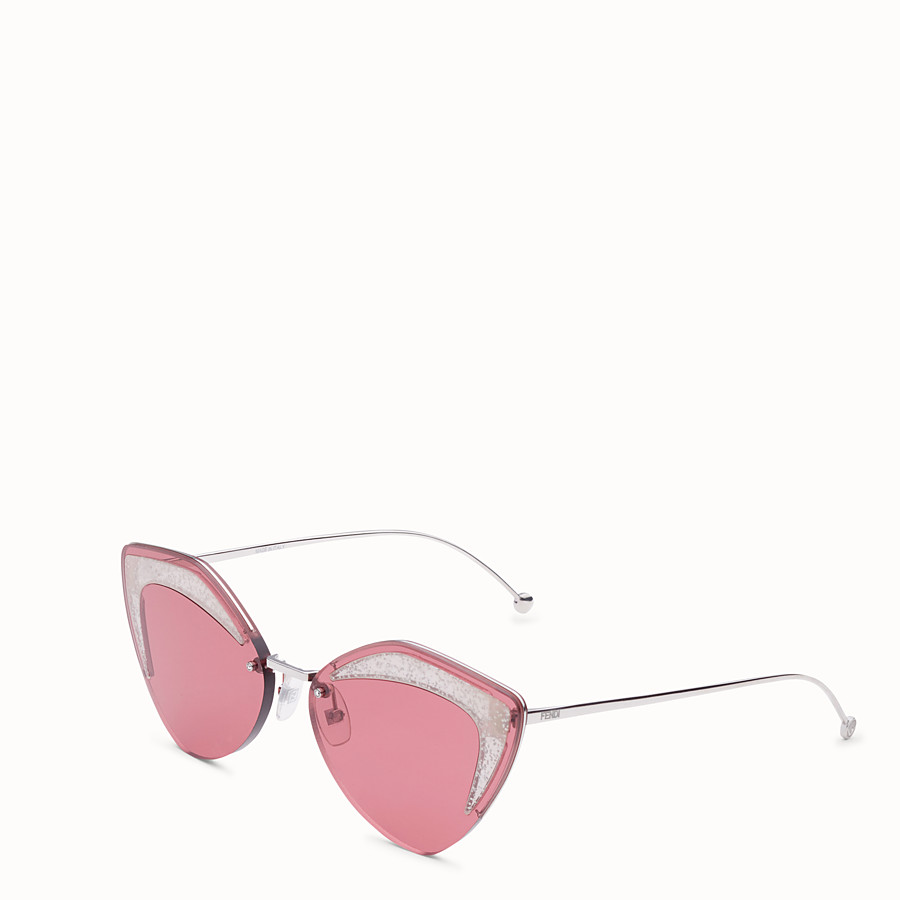 FENDI FENDI GLASS - Silver-colour sunglasses - view 2 detail