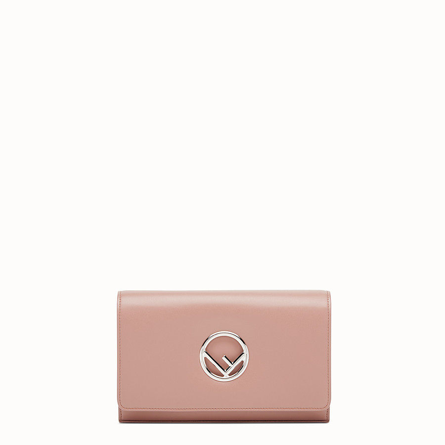 FENDI WALLET ON CHAIN - Mini-bag in pink leather - view 1 detail