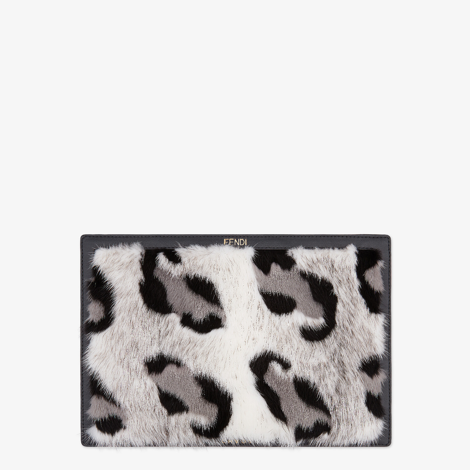 FENDI LAPTOP SLEEVE - Fendi X Chaos leather laptop cover - view 2 detail