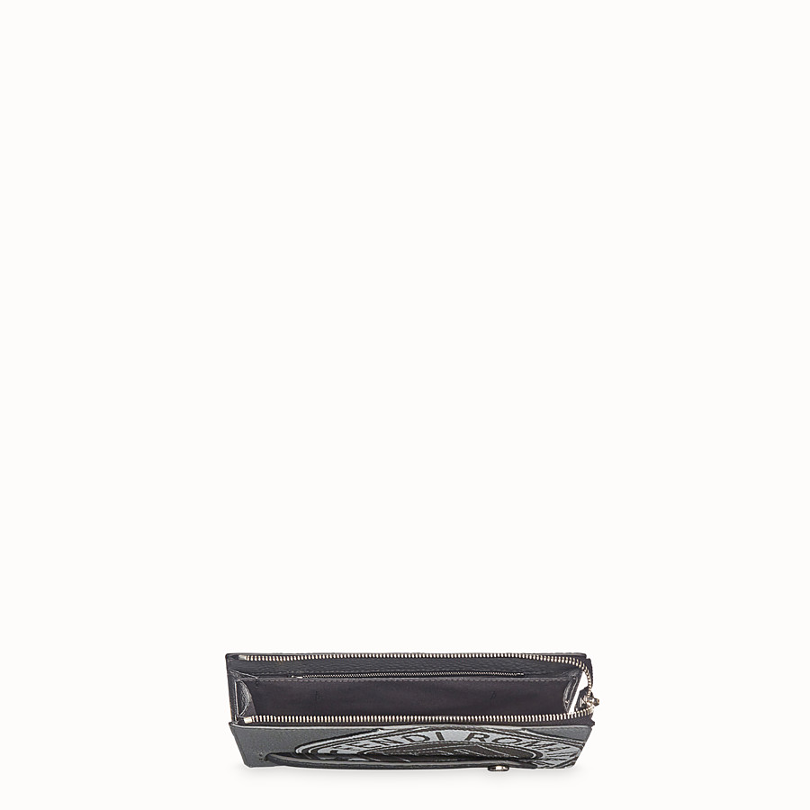FENDI CLUTCH - Grey leather pochette - view 4 detail