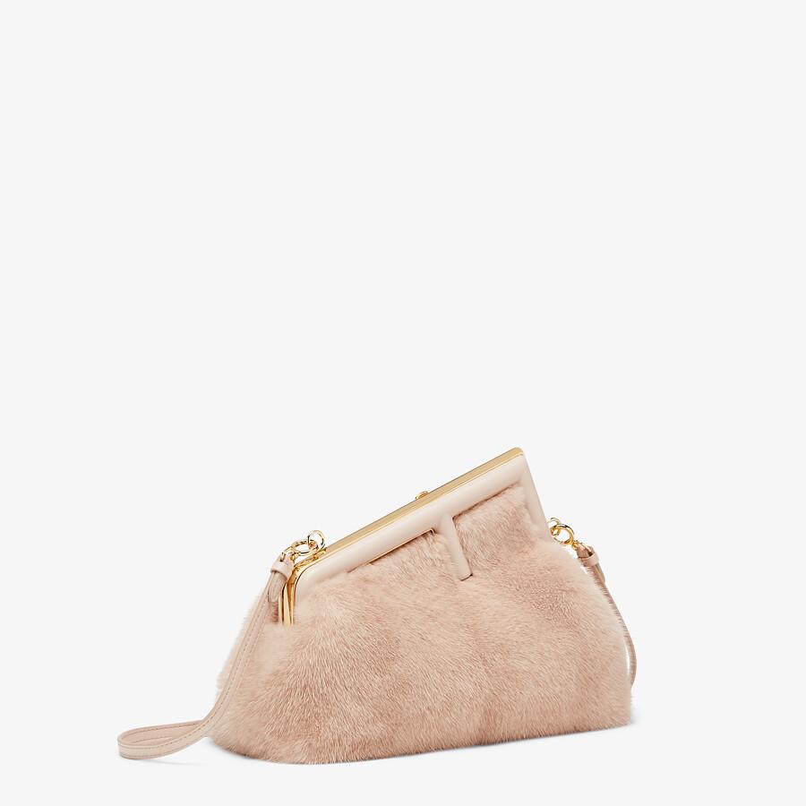 FENDI FENDI FIRST SMALL - Pink mink bag - view 2 detail