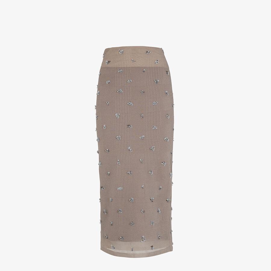 FENDI SKIRT - Mauve nylon dress - view 1 detail