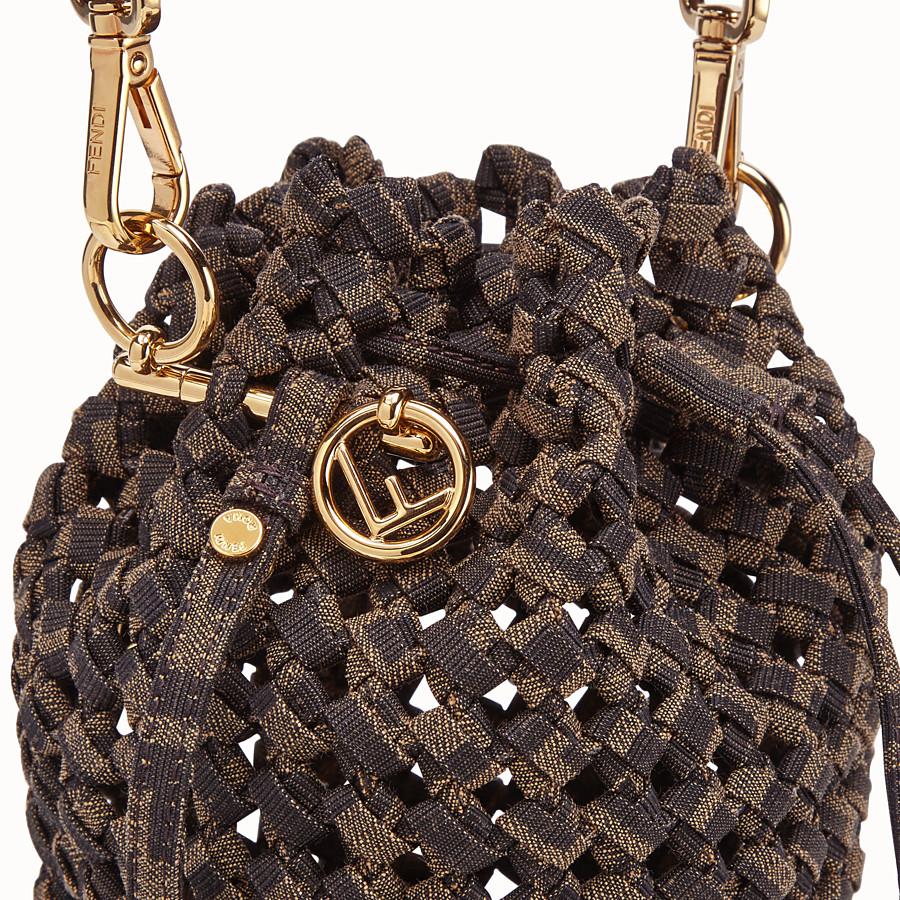 FENDI MON TRESOR - FF jacquard interlace mini-bag - view 6 detail
