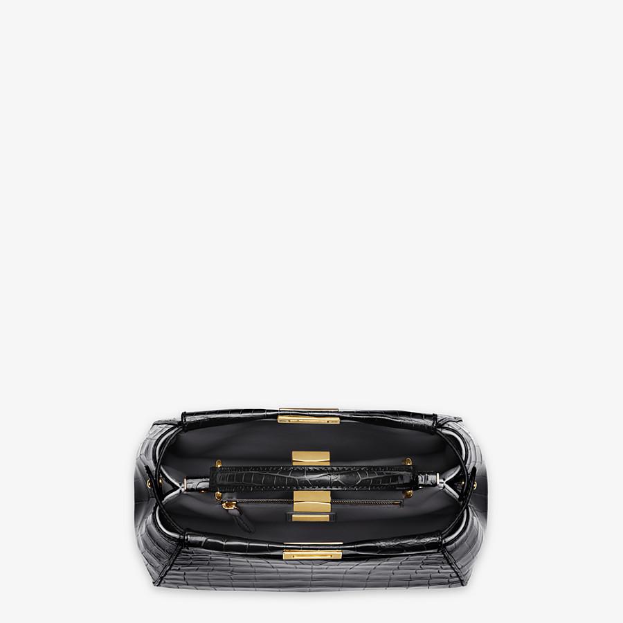FENDI PEEKABOO MINI - Black crocodile handbag - view 4 detail