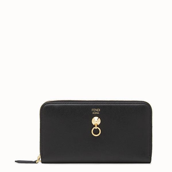 FENDI ZIP-AROUND - Black leather zip-around - view 1 small thumbnail