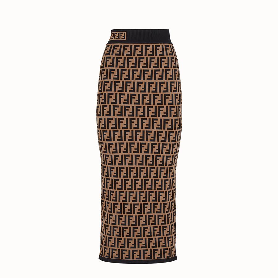FENDI SKIRT - Multicolour fabric skirt - view 1 detail