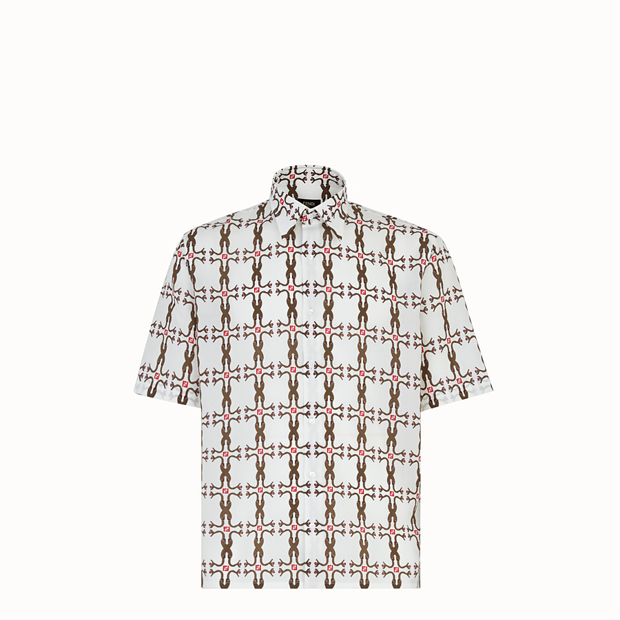 FENDI SHIRT - Shirt in white fabric - view 1 detail