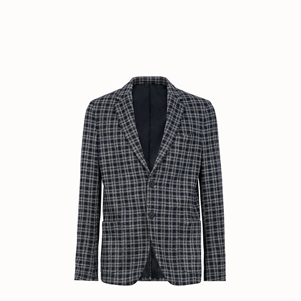 FENDI JACKET - Blue wool blazer - view 1 small thumbnail
