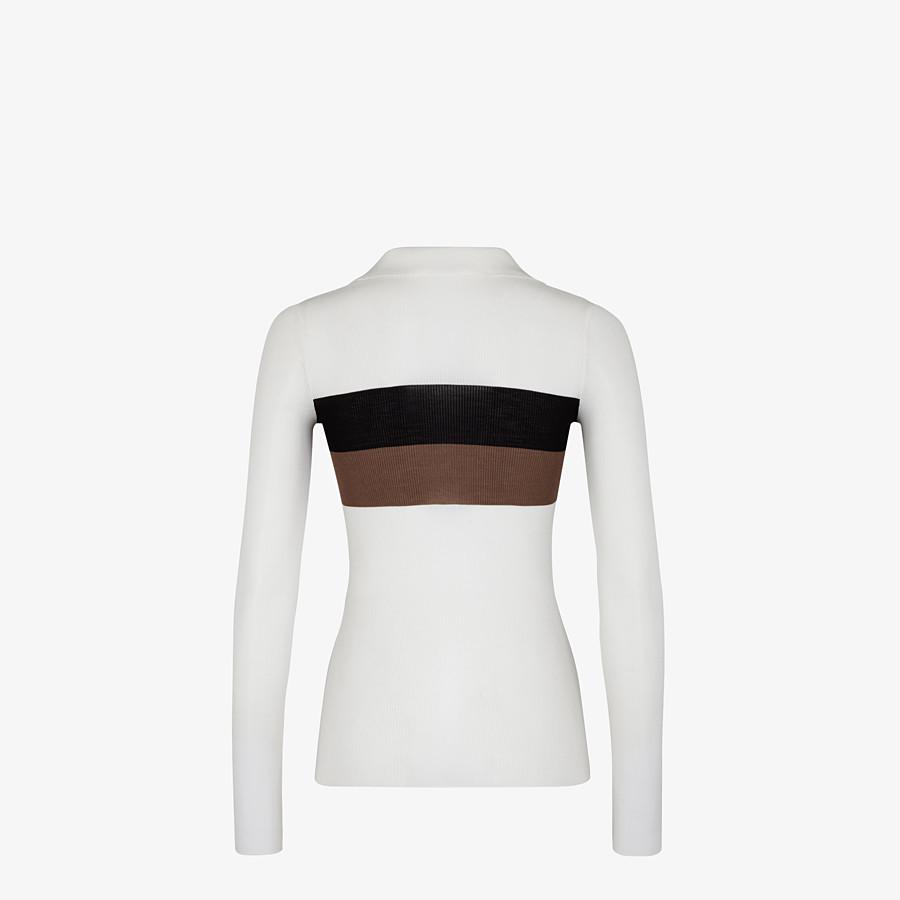 FENDI SWEATER - White silk sweater - view 2 detail