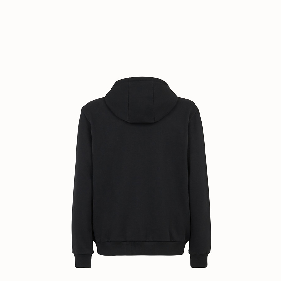 FENDI SWEATSHIRT - Black cotton jersey sweatshirt. - view 2 detail