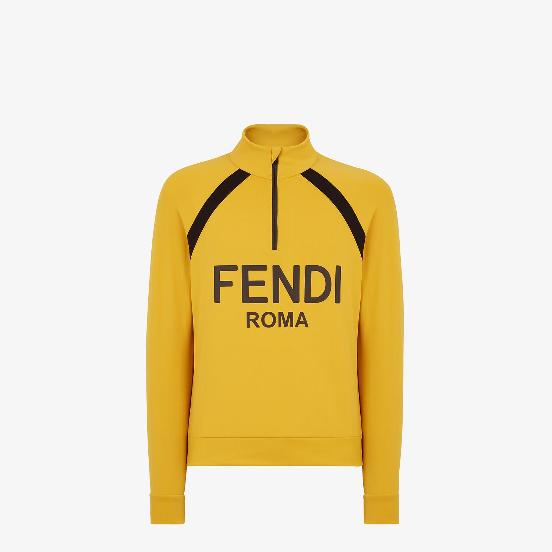 FENDI SWEATSHIRT - Yellow tech fabric sweatshirt - view 1 detail