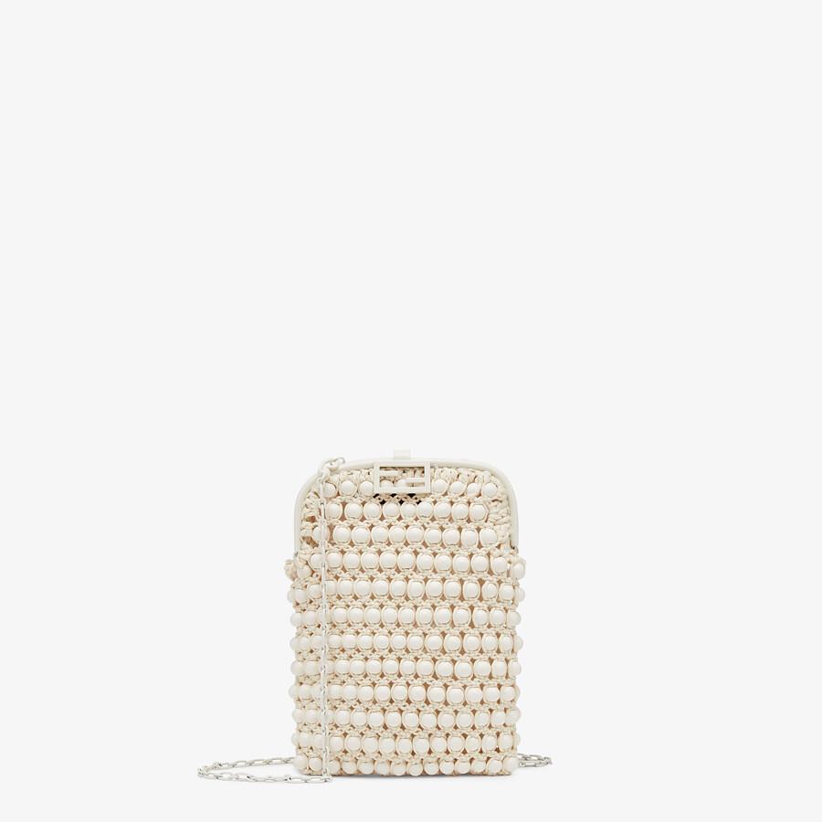 FENDI BAGUETTE PHONE BAG - White lace mini-bag - view 1 detail