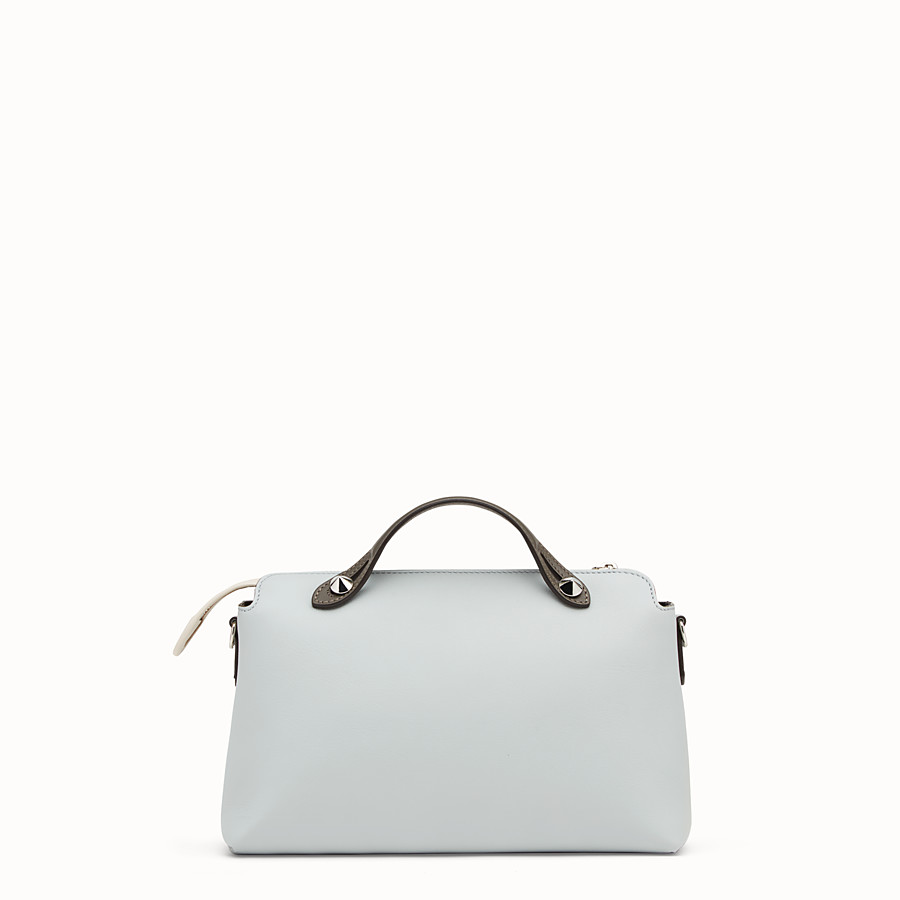 FENDI BY THE WAY REGULAR - Sac Boston en cuir gris - view 3 detail