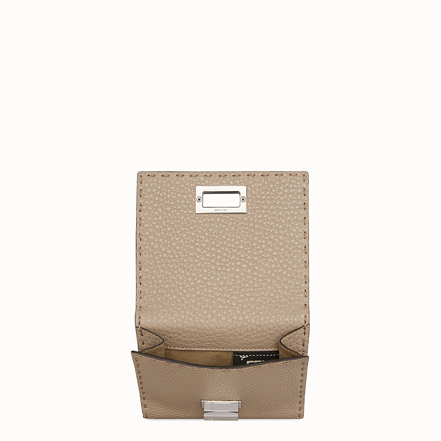 FENDI CONTINENTAL MEDIUM - Beige leather wallet - view 4 detail