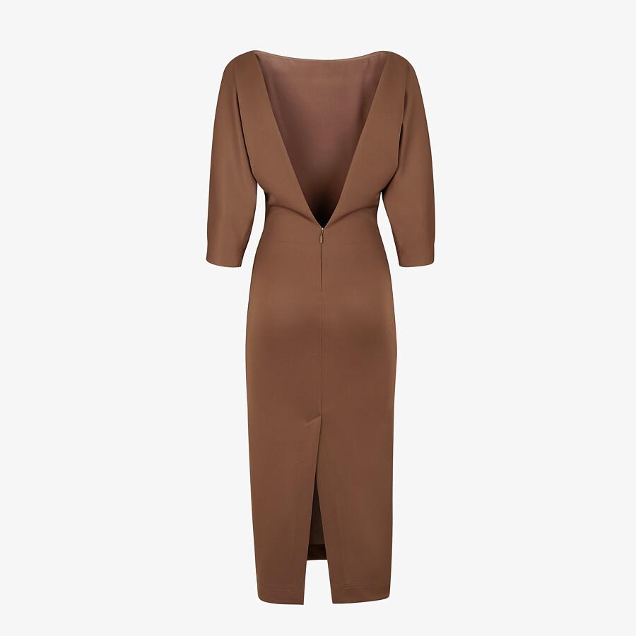 FENDI DRESS - Brown piqué jersey dress - view 2 detail