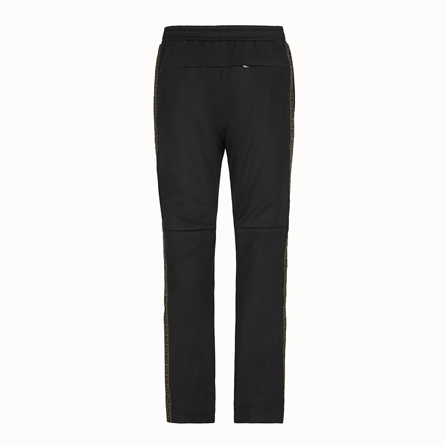 FENDI TROUSERS - Black fabric trousers - view 2 detail
