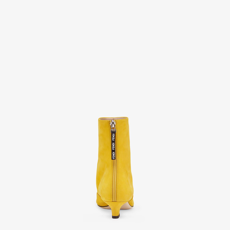 FENDI STIVALETTI - Bootie in nabuk giallo - vista 3 dettaglio