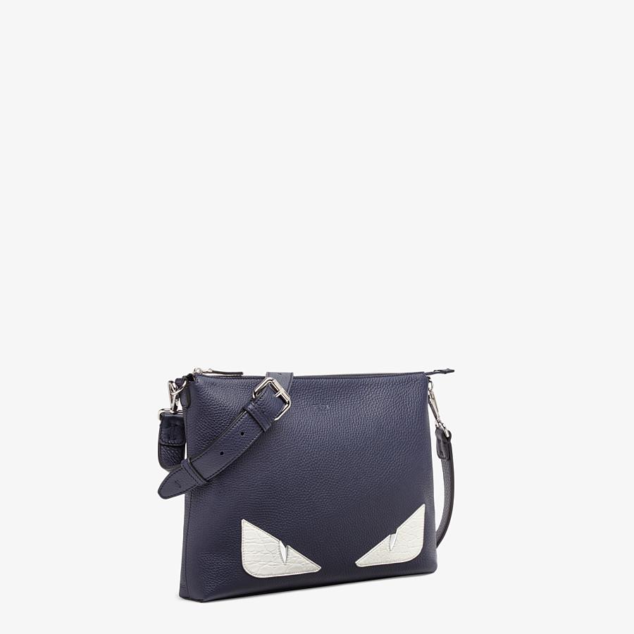 FENDI MESSENGER - Blue leather bag - view 2 detail